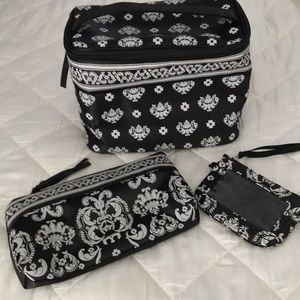 Accessories - 3 pc black and white travel Bag set.